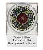 Cœur Aile présentée par celtique en verre Motifs décoratifs peints à la main en verre teinté Presse-papiers dans une écossais Rose et motif de chardon