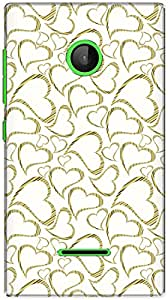 The Racoon Lean printed designer hard back mobile phone case cover for Microsoft Lumia 532. (Mustard He)