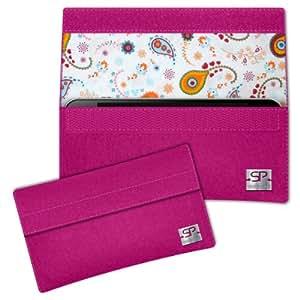 SIMON PIKE Paisley Hülle Handytasche NewYork 10 pink für Apple iPhone 5S 5C 5 aus Filz