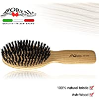 Spazzola in legno naturale di frassino e pura setola di cinghiale. 100% made in Italy.