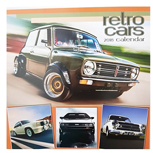 * NEW * 2018 Classic Retro Cars Square Wall Calendar - 16 Months