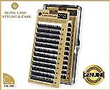 Einzelne hohe Qualität Wimpern für Wimpernverlängerung 10mm - C curl - 0.2mm Blink Lash Stylist mit echten Aufkleber !!! Der beste Preis auf Amazon !!!