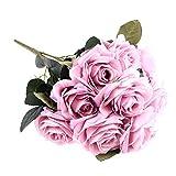 EWEFWFYT 10 Kopf echte Note Seidenrosen Blumenstrauß künstliche Blumenstrauß Hochzeit Auto decorationhome Dekoration Blumen