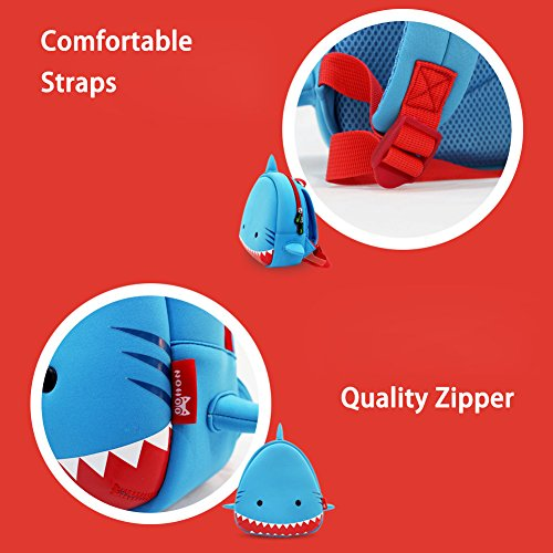 BINGONE Kinder Kinderhandtasche Blau Shark Big Mouth Shark Smile