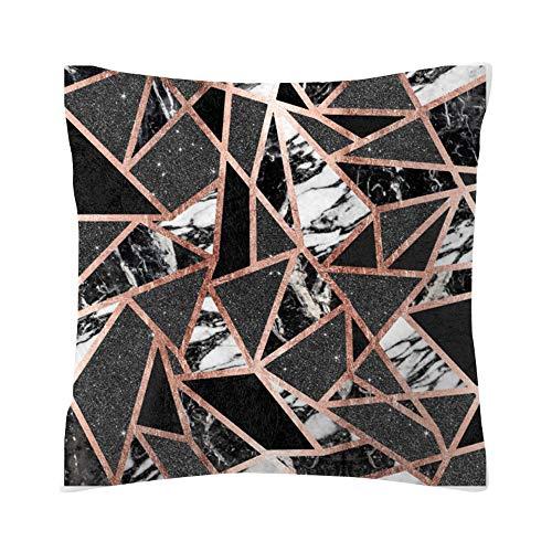 Kissenbezug aus roségoldenem Polyester - Rose Black Gold Kissenbezug Platz Kissenbezug Home Decoration Bett Sofa Kissen Cover (G, 45 * 45cm)