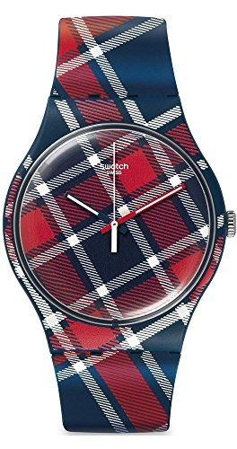 Swatch Orologio al Quarzo Unisex Color-Kilt 41 mm