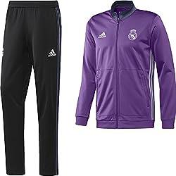 adidas Real Madrid Cf Pes - Chándal para hombre, color morado / blanco, talla M