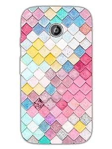 Moto E2 Back Cover - Pastel Tiles - Pattern - Designer Printed Hard Shell Case