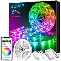 Govee Dreamcolor LED Strip, 5m Wasserdicht LED Streifen Sync mit Musik, Licht Band Farbwechsel Steuerbar mit APP, LED Stripes für Party, Raum, Schlafzimmer, TV, Küche, Weihnachten Deko