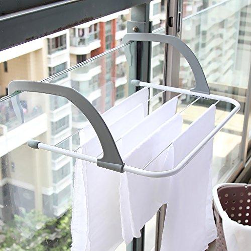 PETSOLA Kühler Rack 6 Bars Tier Airer Trockner Handtuchhalter Schiene Kleidung Badezimmer S/L - S -