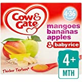 Cow & Gate Mangoes, Bananas, Apples & Baby Rice Pudding 4 x 100g