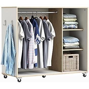 habeig Kleiderschrank auf Rollen #5318 weiß Schrank Vorhang begehbar ...