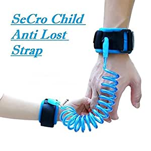 SeCro Child Safety Anti Lost Wrist Link Harness Strap Rope Leash Walking Hand Belt (Blue)