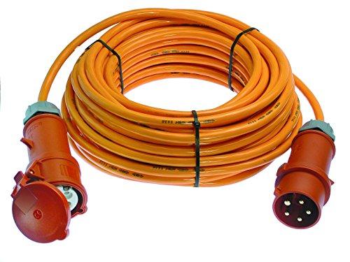 Preisvergleich Produktbild as - Schwabe CEE Starkstrom Verlängerung, Leitung H07BQ-F 5G6, 50 m, orange, 59624