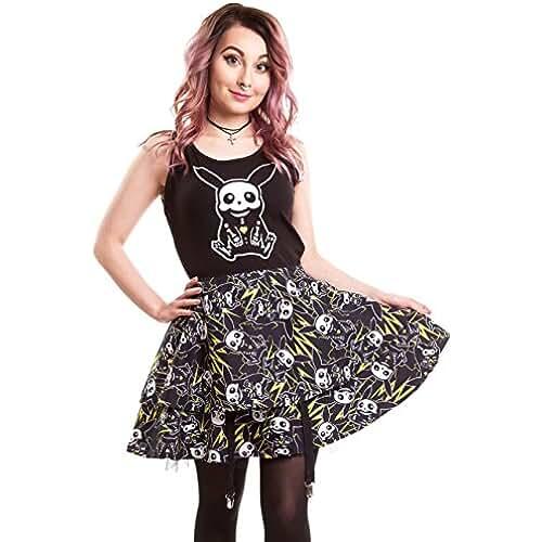 ropa kawaii para los mas guays Vestido anime de pikachu, color negro