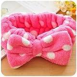 Wicemoon Banda de pelo hermosa banda de pelo Rosa y banda de pelo cómoda niños usan lunares rosas azules