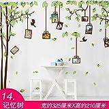 Bomeautify Hintergrund Wand Gesicht selbstklebend Tapete Wandaufkleber kreativ dekorativ Aufkleber idyllisch Tapete Poster Erinnerungsbaum
