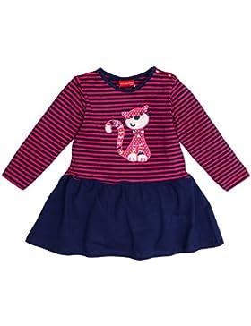 SALT AND PEPPER Baby-Mädchen Kleid B Dress Funny Stripes Katze