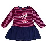 SALT AND PEPPER Baby-Mädchen Kleid B Dress Funny Stripes Katze, Rosa (Magenta Melange 861)
