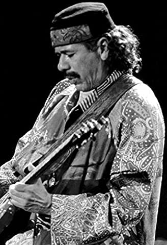 Santana Poster, Carlos Santana, Playing Guitar, Rock Legend by Unknown