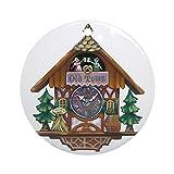 Yrmsun, Divertente Orologio a cucù Rotondo per Natale, Ornamenti per Bambini, Decorazioni per Albero di Natale
