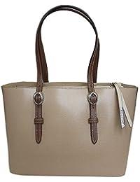 Nicoli 'Briglia' designer italien sac fourre-tout en cuir Sac shopping - brun