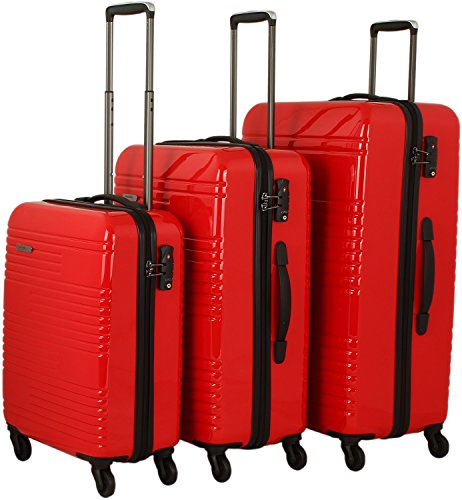 travelite Groovy 4-Rad Trolley-Set 3-tlg 10 rot