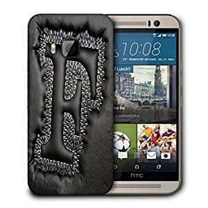 Snoogg Grey F Designer Protective Back Case Cover For HTC ONE M9