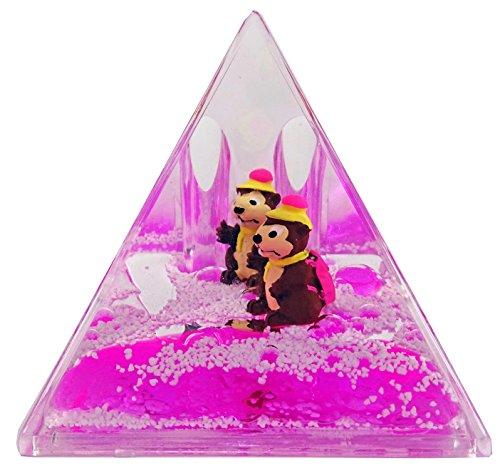Porte Stylo Pyramide, flotteur Marmotte - Rose