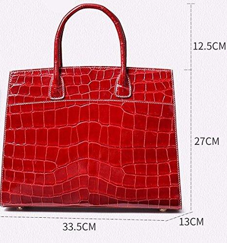 lpkone-Nouveau modèle de threading crocodile manuel de luxe sacs à main de mode Européens et Américains sacs à main de luxe Blue
