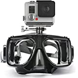 HLC Swimming Scuba Dive Snorkeling Mask Compatible Hero 1, 2, 3, 3+,4, for Diving Black