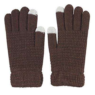 Winter Touchscreen Handschuhe Fäustlinge für Smartphones Warm Strickhandschuhe Fingerhandschuhe Laufhandschuhe Skihandschuh Perfekt für Frühling Herbst Winter