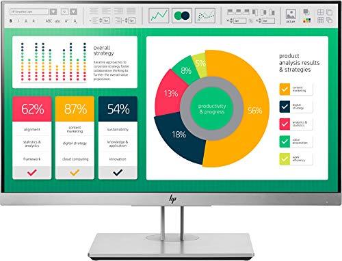 HP EliteDisplay E223 54,6cm (21,5 Zoll Full HD IPS) Monitor (HDMI, VGA, USB-Hub, 5ms) schwarz/silber