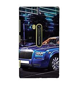 Fuson Designer Back Case Cover for Nokia Lumia 920 :: Micosoft Lumia 920 (Blue car theme)
