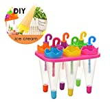 Aolvo Kunststoff umbrella-shaped Popsicle Formen Ice Lolly Formen Neuheit Popsicle Maker mit wiederverwendbar Popsicle Sticks kawaii Eis Form–(Set von 6)