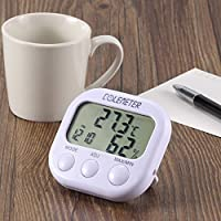 Termometro Igrometro con Orologio Umidità Temperatura Tester LCD