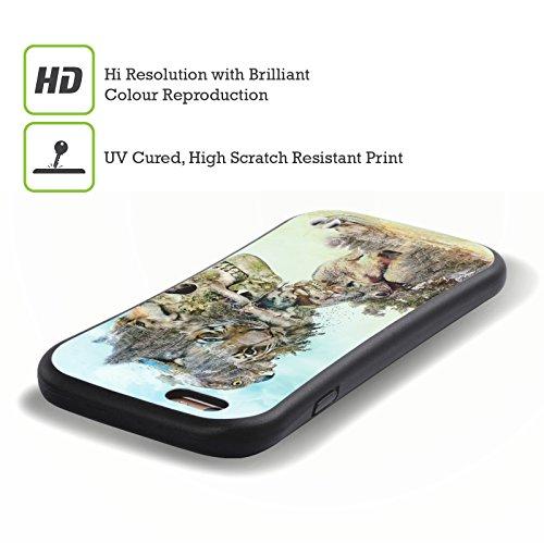 Ufficiale Riza Peker Blu Teschi 5 Case Ibrida per Apple iPhone 7 Plus / 8 Plus Natura 2