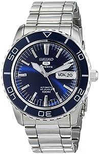 Reloj Seiko SNZH53K1 de caballero automático con correa de acero inoxidable plateada - sumergible a 100 metros de Seiko