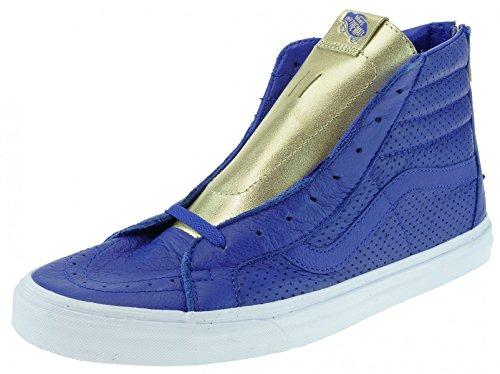Furgoni Sk8-hi Herren Sneaker Braun Oro Confezione Oro Blu Reale