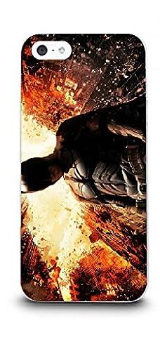 iPhone 5/5s Batman Handyhülle / Hülle für Apple iPhone 5s 5 SE / Displayschutzfolie & Stoff / iCHOOSE / The Dark Knight Rises -