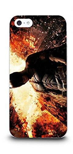 iPhone 5/5s Batman Handyhülle / Hülle für Apple iPhone 5s 5 SE / Displayschutzfolie & Stoff / iCHOOSE / The Dark Knight Rises - Feuer