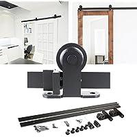 inova Beschlag-Set Laufschiene Schiebet/ür-Beschlag Schiebet/ürsystem 360cm mit Quadratgriff