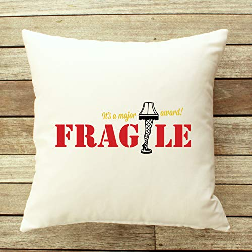 prz0vprz0v Christmas Throw Pillow, Fragile Pillow Cover, A Christmas Story Pillow, Zippered Pillow, Funny Throw Pillow, Ralphie Pillow 18'' x 18'' Cushion Cover Pillowcase