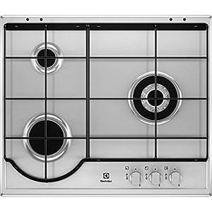 Electrolux EGH6233BOX hobs Acero inoxidable Integrado Encimera de gas – Placa (Acero inoxidable, Integrado, Encimera de gas, Acero inoxidable, 1000 W, 5,4 cm)