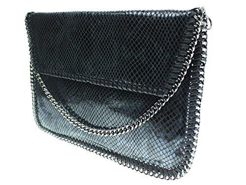 bag2basics-sac-bandouliere-pour-femme-taille-unique-noir-snake-schwarz-taille-unique