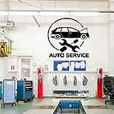 jiuyaomai Autocollants De Service De Voiture, Pneus, Réparation, Lave-Auto, Vinyle Salon Chambre Décoration Bricolage Sticker Mural58X60Cm