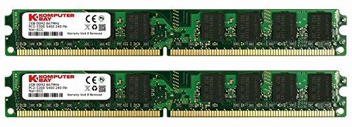 Komputerbay 4GB (2X 2GB) DDR2 667MHz PC2-5300 PC2-5400 (240 PIN) DIMM Desktop-Speicher mit Samsung Halbleiter -