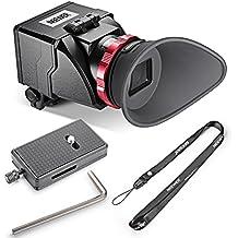 Neewer S6Visor óptico de aumento 3X, plegable, para Canon 5DS, 7D, 7DII, 5DII, 5D3, D810, D800E, D750, D300S, D600, D610, Nikon D3200, D5300, D5200y otras cámaras réflex digitales con pantalla LCD de 3 y 3,2 pulgadas