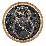 LQ-wall clock Wanduhr Retro Gear Wanduhr Moderne Wand Dekor Mechanische bewegliche Getriebe rotierende Bewegung Rad Wand Hängen Uhr, batteriebetrieben, 002