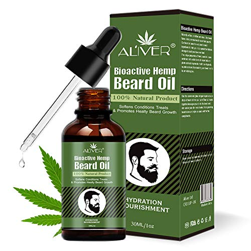 PREMIUM Natural Beard Hemp Oil, Soften Conditions Treats and Promotes Healty Beard Growth, All Natural Ingredients 30 ml -